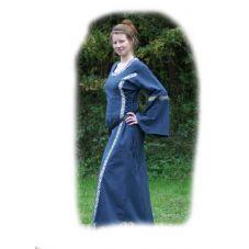 Robe médiévale Ella 100% coton bleu
