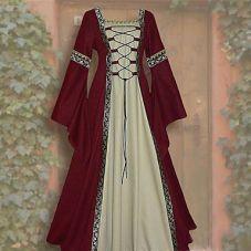 Robe médiévale à lacets
