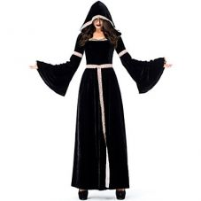Robe médiévale en velours noir