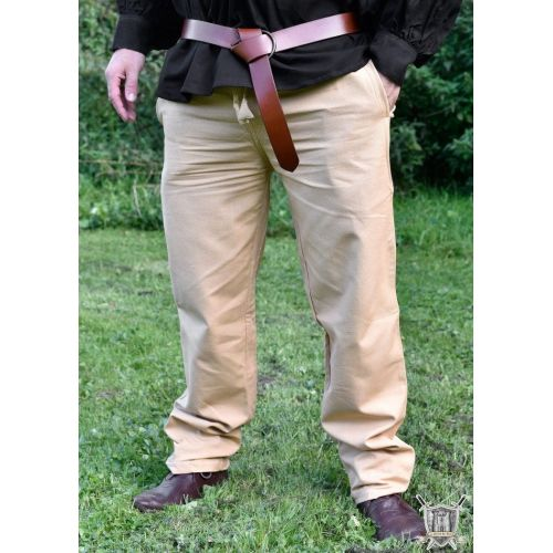 Pantalon Médiéval 100% coton beige