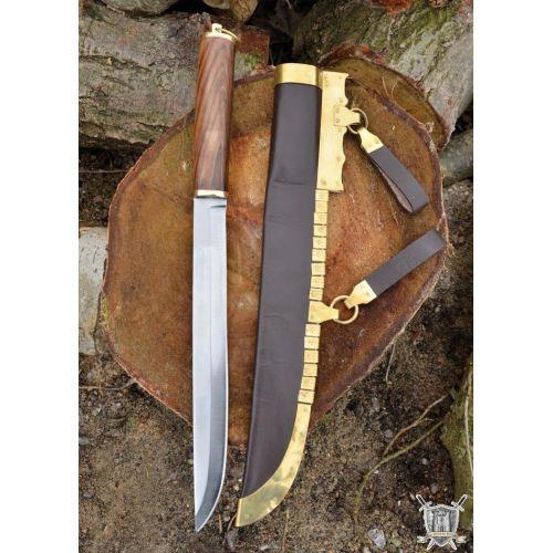 viking seax avec fourreau 48 cm