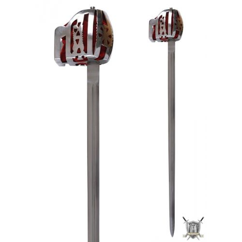 Epée et sabre écossais en acier