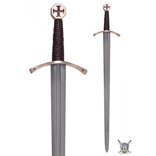 Epée de croisé avec fourreau 13 ème siècle
