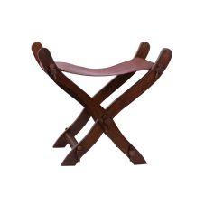chaise médiévale pliante bois et cuir