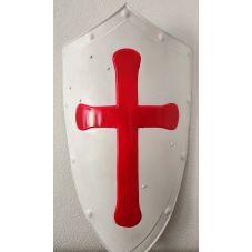 Bouclier de croisé acier croix en relief