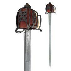 Epée écossaise à panier modèle antique acier trampé