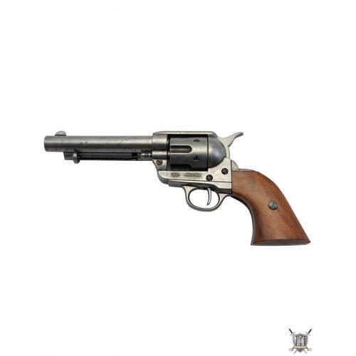 Revolver sherif et 6 cartouches en laiton reproductions