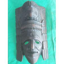 Masque indien d'amérique en bois sculpté