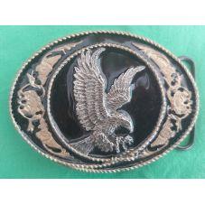 Boucle de ceinture en métal émaillé WESTERN