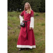 Robe médiévale Alvina coton rouge