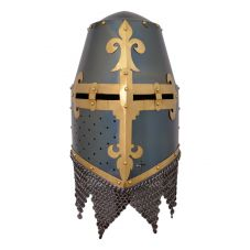 Grand heaume de chevalier 14ème siècle