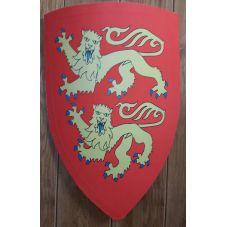 Bouclier Richard coeur de lion en bois