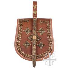 Sac en cuir de ceinture décoré viking