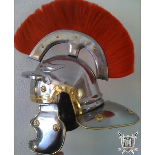 casque de centurion à crinière