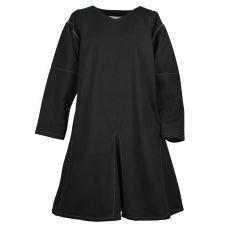 Tunique médiévale brodée noire en coton brut