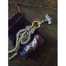 collier en métal viking le marteau de Thor