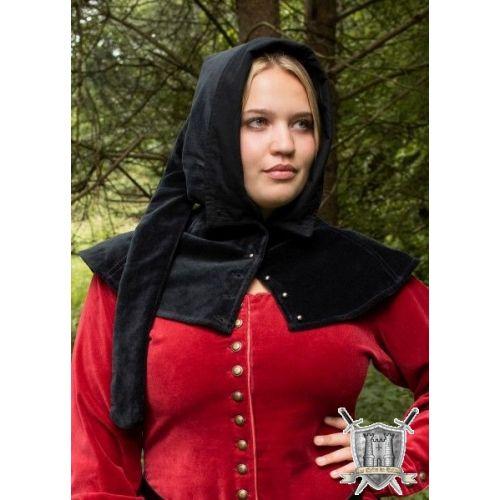 Capuche médiévale en velours femme