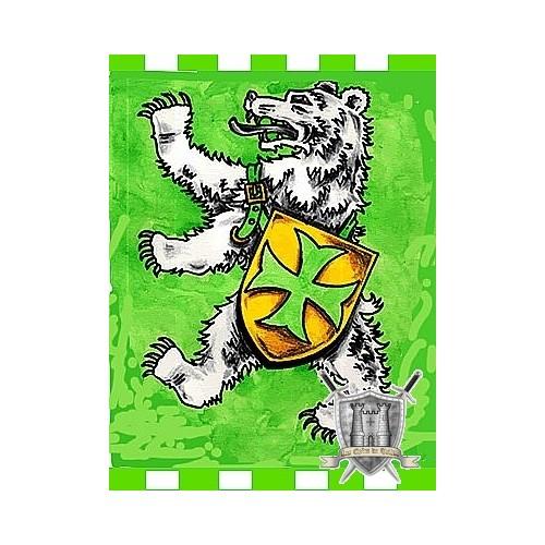 etendard particulier sur mesure avec ours peint