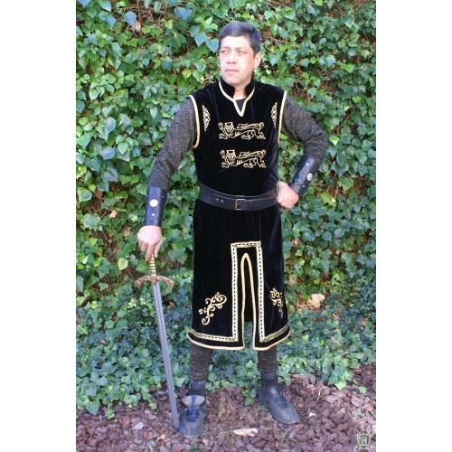 costume Tunique royale  velours brodée