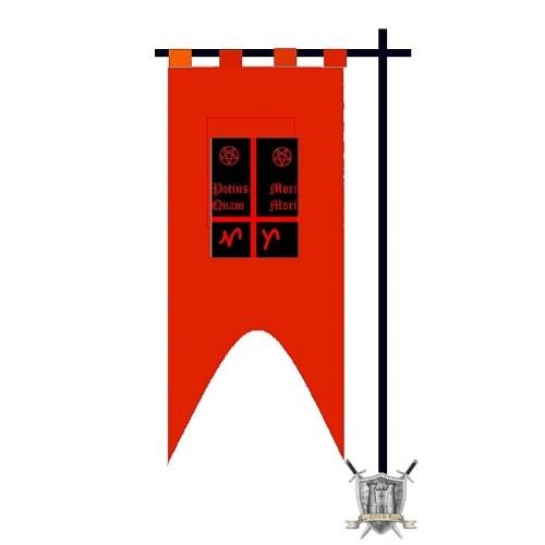 banniere sur mesure en coton rouge